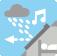 Bruit de la pluie divisé par deux