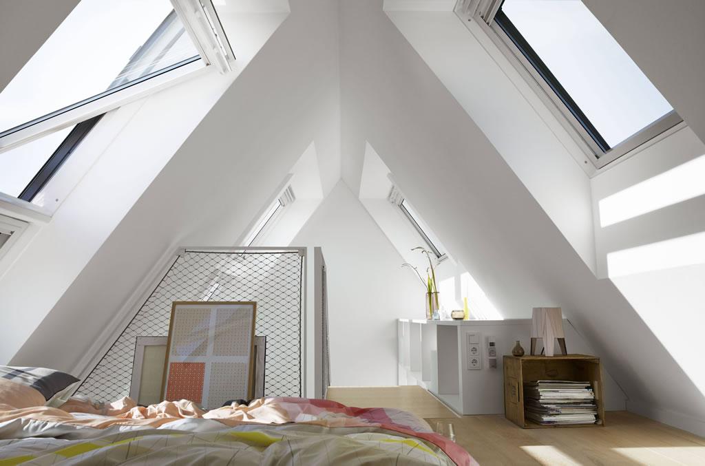 fenêtres de toit Velux® - inspiration chambre